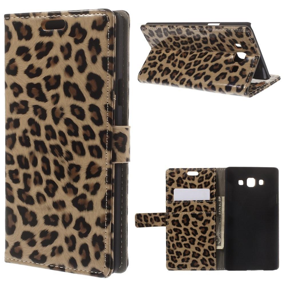 Pouzdro s leopardím vzorem pro Samsung Galaxy A7 SM-A700F