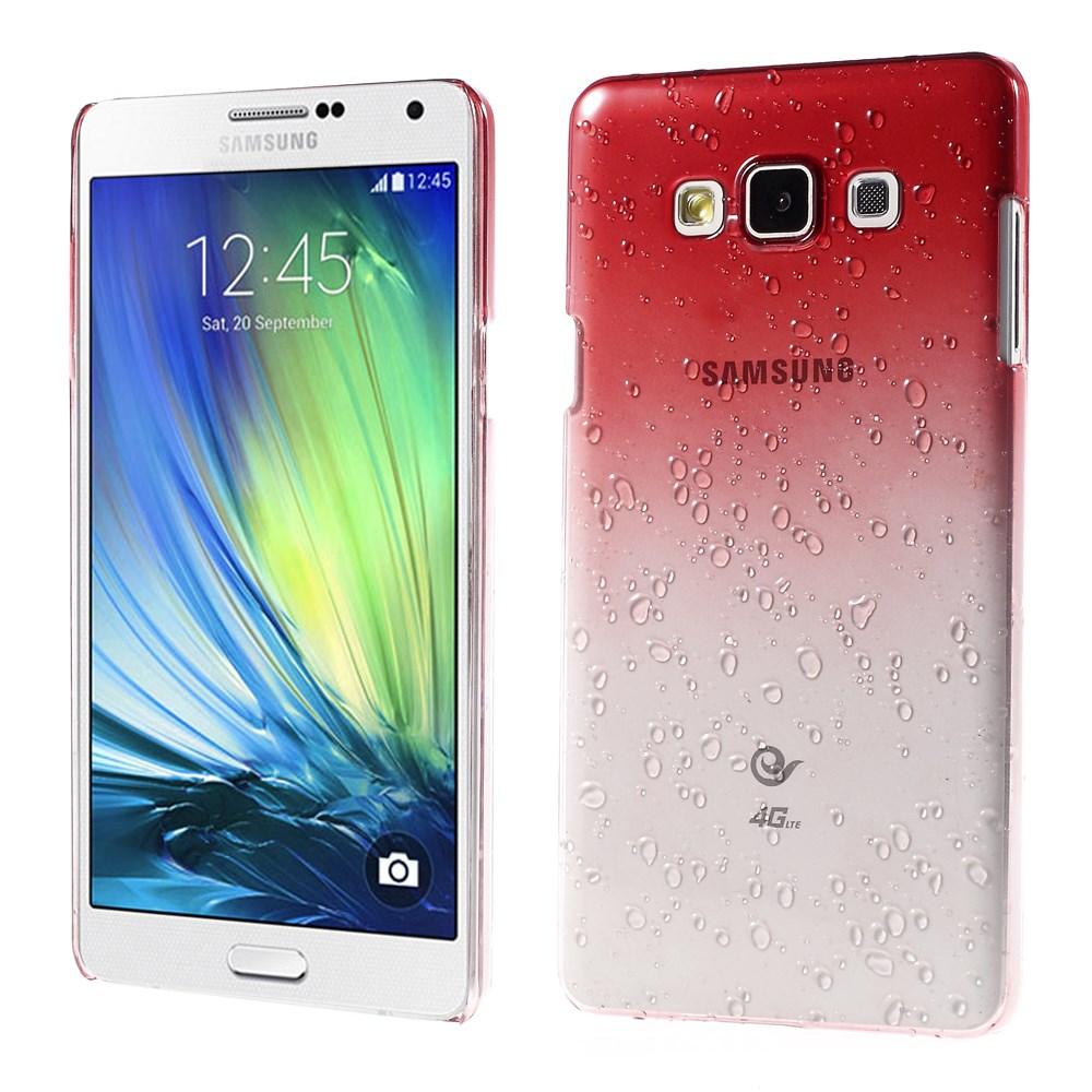 Pouzdro s kapkami deště pro Samsung Galaxy A7 SM-A700F Barva: Červená