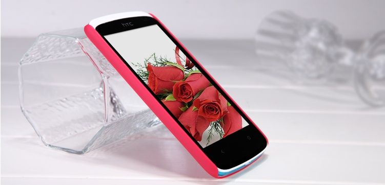 Vroubkované pouzdro Nillkin pro HTC Desire 500 Barva: Červená