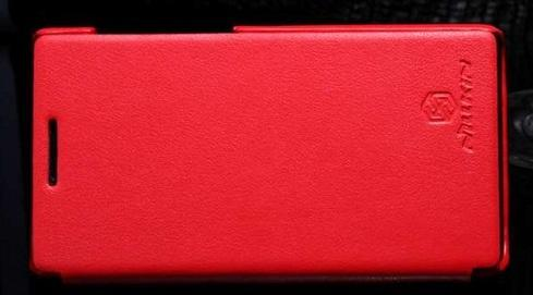 Koženkové pouzdro Nillkin pro Huawei Ascend P1 Barva: Červená