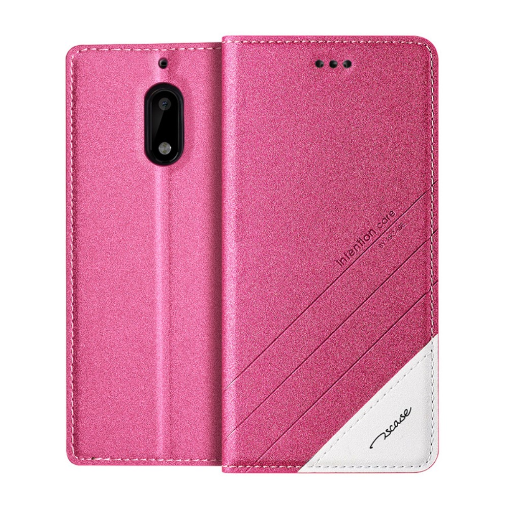 Pouzdro Tscase pro Nokia 6 (poškozená krabička) Barva: Růžová (tmavá)