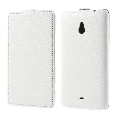 Koženkové pouzdro pro Nokia Lumia 1320 Barva: Bílá