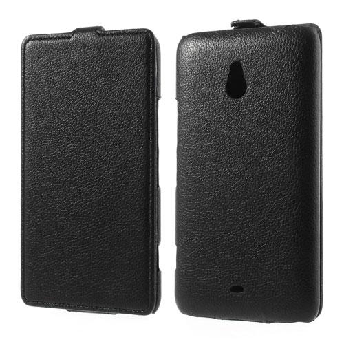 Koženkové pouzdro pro Nokia Lumia 1320 Barva: Černá
