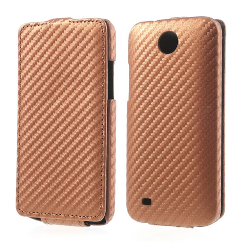 Koženkové pouzdro pro HTC Desire 300 Barva: Hnědá
