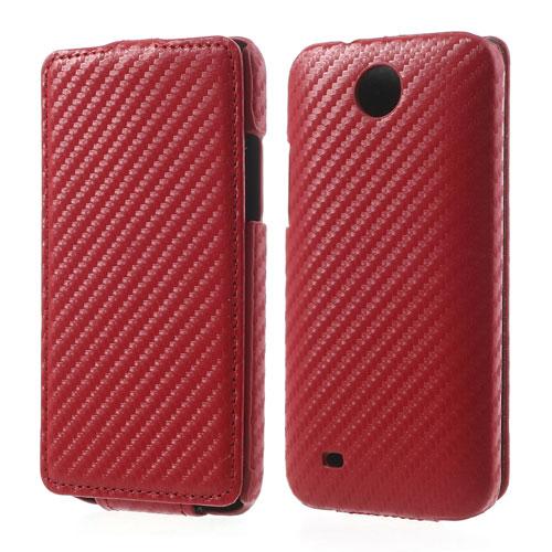 Koženkové pouzdro pro HTC Desire 300 Barva: Červená