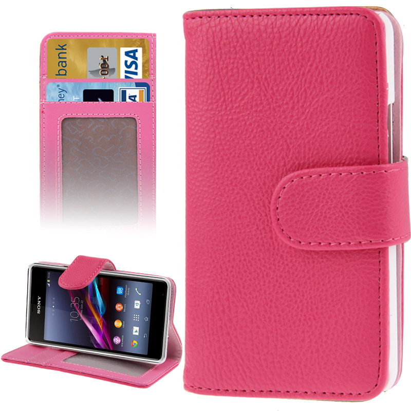 Pouzdro se stojánkem pro Sony Xperia E1 Barva: Růžová