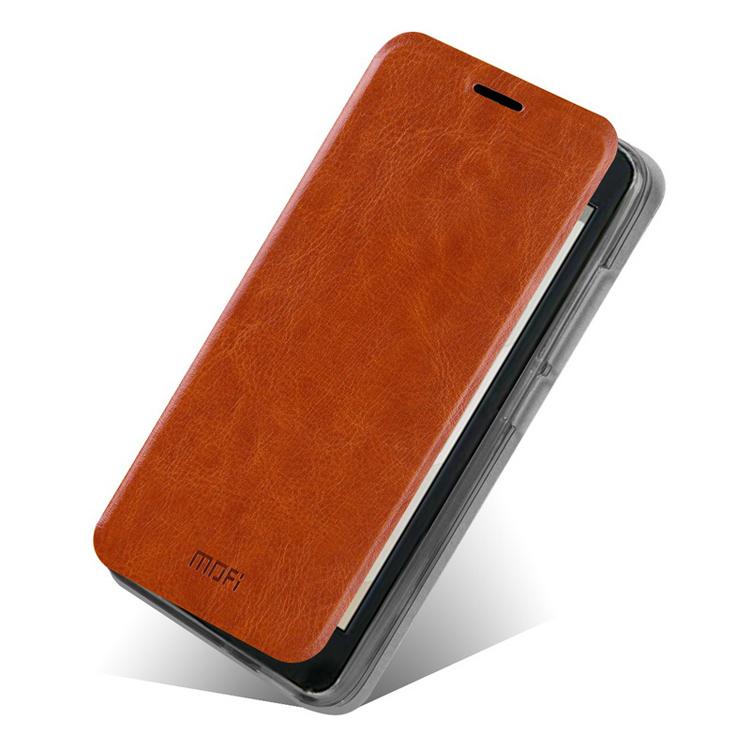 Koženkové pouzdro Mofi pro Huawei Ascend G630 Barva: Hnědá