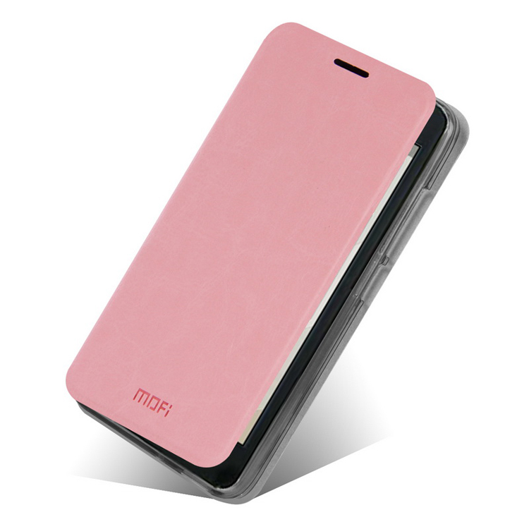 Koženkové pouzdro Mofi pro Huawei Ascend G630 Barva: Růžová (světlá)
