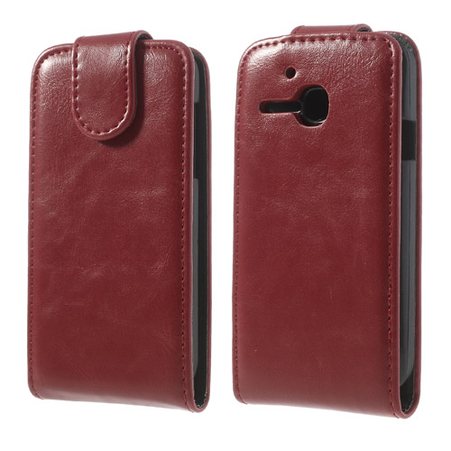 Koženkové pouzdro pro Alcatel OT-5020D M´POP Barva: Červená