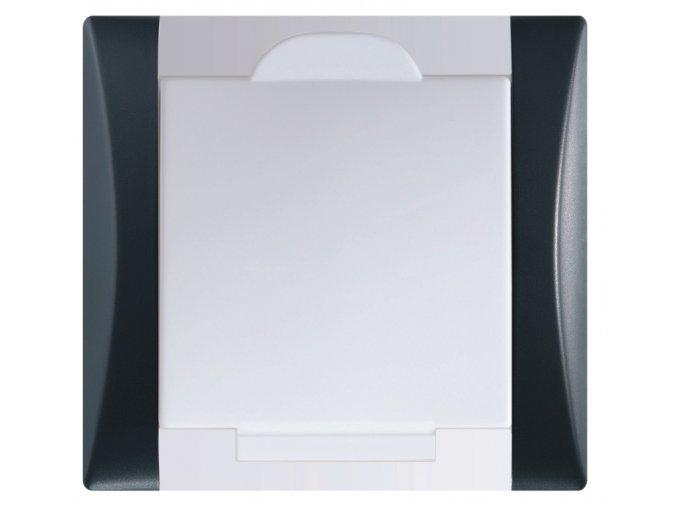 Vysavačová zásuvka Elegant antracitová černá sněhově bílá