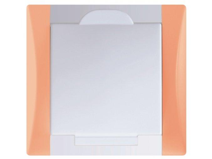 Vysavačová zásuvka Elegant broskvově oranžová sněhově bílá