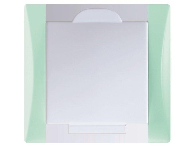 Vysavačová zásuvka Elegant ledově zelená sněhově bílá