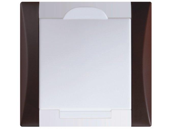 Vysavačová zásuvka Elegant signálně hnědá sněhově bílá