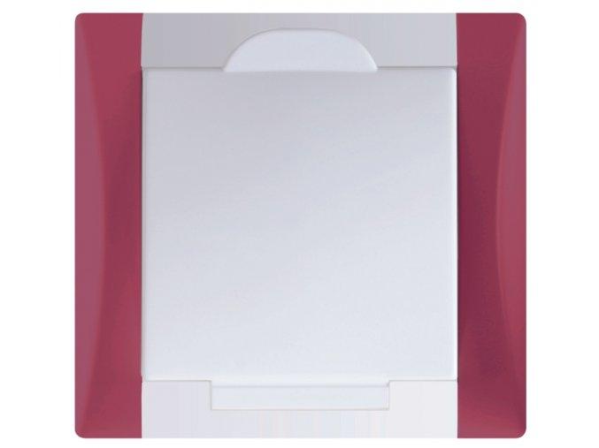 Vysavačová zásuvka Elegant rubínově červená sněhově bílá