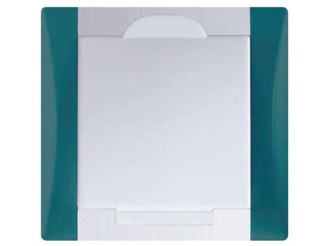 Vysavačová zásuvka Elegant mechově zelená sněhové bílá