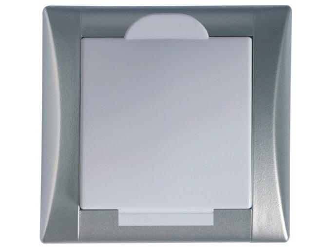 Vysavačová zásuvka Elegant hliníková sněhově bílá