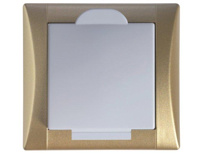 Vysavačová zásuvka Elegant zlatá sněhově bílá