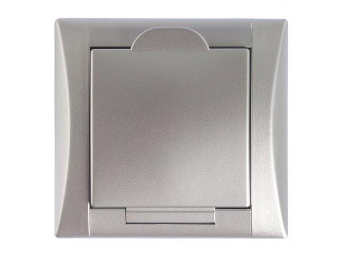 Vysavačová zásuvka Elegant hliník hliník