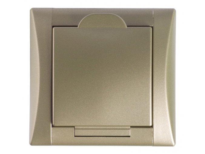 Vysavačová zásuvka Elegant titan titan