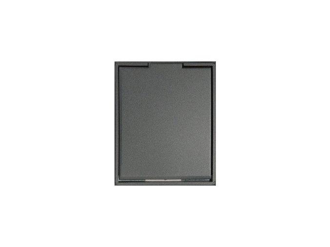 Zásuvka Compact Antracitová