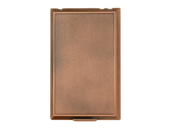 Vysavačová zásuvka Classic kovová celoplošná Bronz
