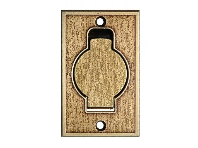 Vysavačová zásuvka Classic kovová podlahová Bronz