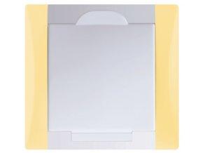 Vysavačová zásuvka Elegant vanilkově žlutá sněhově bílá