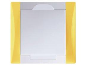 Vysavačová zásuvka Elegant slunečnicově zlutá sněhově bílá