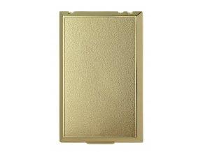 Vysavačová zásuvka Classic kovová celoplošná Zlatá