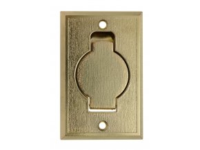 Vysavačová zásuvka Classic kovová Zlatá