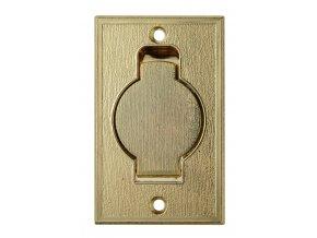 Vysavačová zásuvka Classic kovová podlahová Zlatá