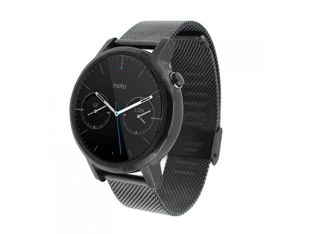 01b2fefd43c Kovový řemínek Milanese pro chytré hodinky Motorola Moto 360 ...