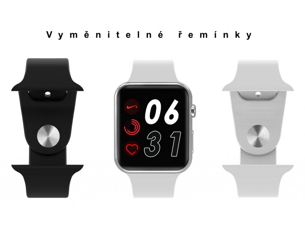 67d25108a ... Chytré hodinky s vyměnitelnými řemínky Ciferníky IWO watch ...