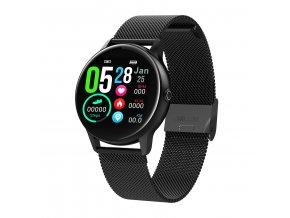 Chytré hodinky DT88 černé kovové