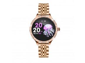 Dámské chytré hodinky zlaté