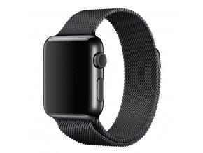 Kovový řemínek Milanese pro chytré hodinky Apple Watch a Sports Watch