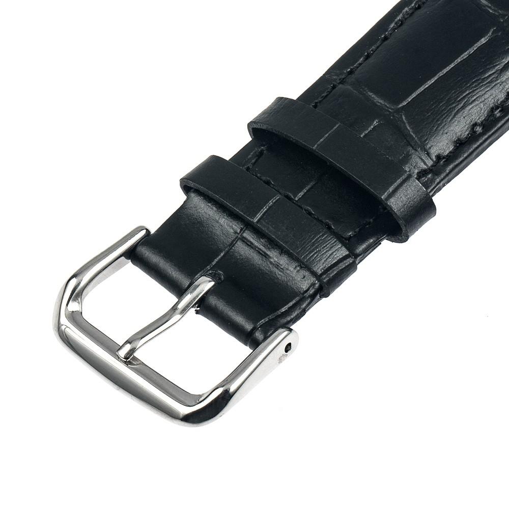 Kožený řemínek pro chytré hodinky Pebble Time Steel - El Uminium Řemínek: Vesmírně šedý