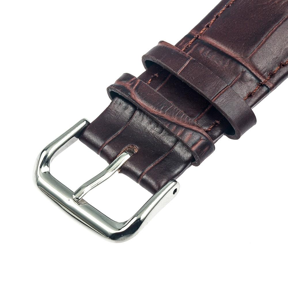 Kožený řemínek pro chytré hodinky Pebble Time Steel - El Uminium Řemínek: Kaštanově hnědý
