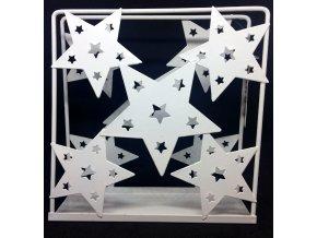 Vánoční držák na ubrousky s hvězdami