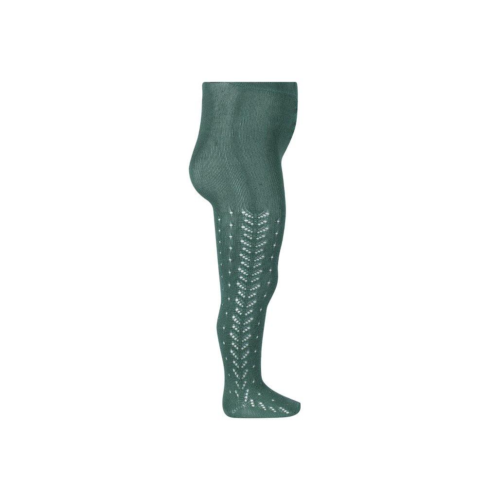 perle openwork tights lateral spike cedar