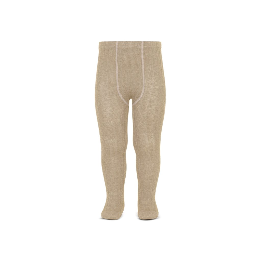 basic rib tights nougat