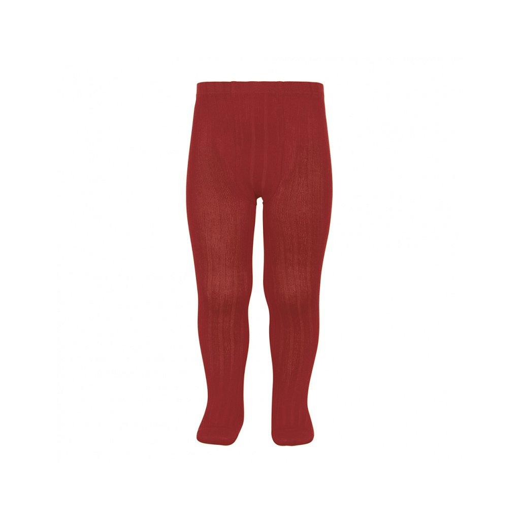 basic rib tights ruby