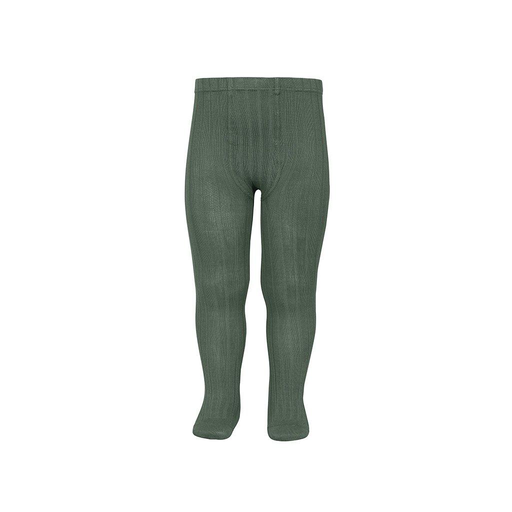 basic rib tights lichen green