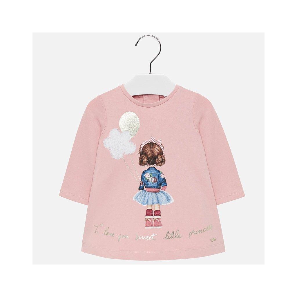 Mayoral oteplené dívčí šaty 2920