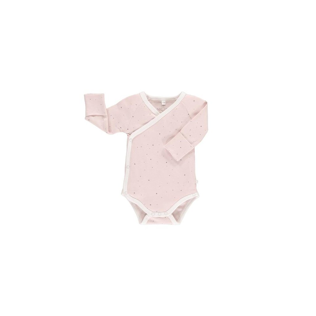 organic cotton bamboo baby kimono bodysuit stardust web grande