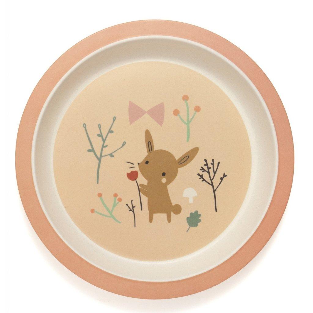 bamboo plate bunny bpb6