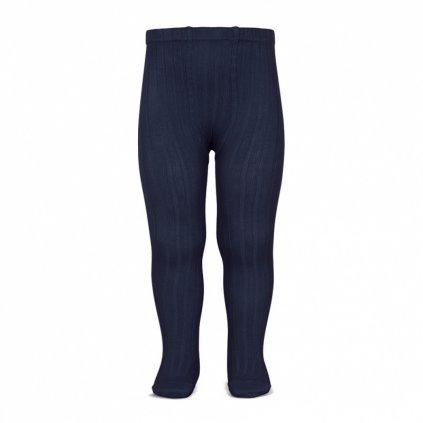 basic rib tights navy blue