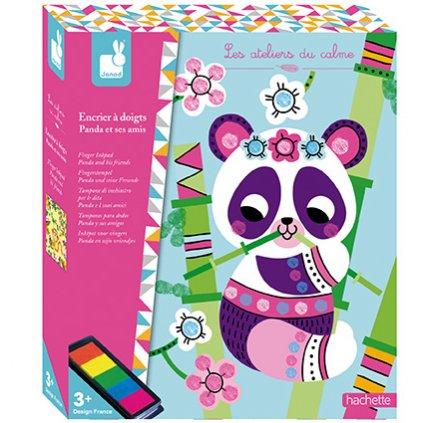 J07812 Janod Atelier Prstove farby Panda Maxi 90