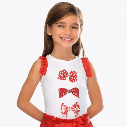 Mayoral dívčí tričko s krátkým rukávem 3021-90