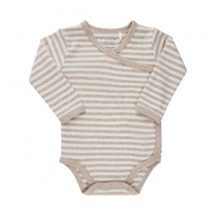 Fixoni kojenecké body s dlouhým rukávem 422007-2601  GOTS certifikace